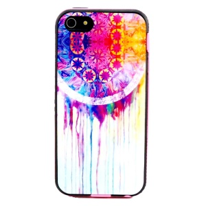 For iPhone 5s 5 Removable PC Frame + TPU Case - Watercolor Dreamcatcher