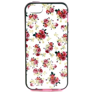 For iPhone 5s 5 PC Frame + TPU Back Case Cover - Girly Roses