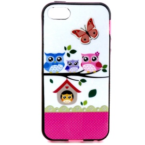 Combo PC Frame + TPU Shell for iPhone 5s 5 - Owl Family on the Branch