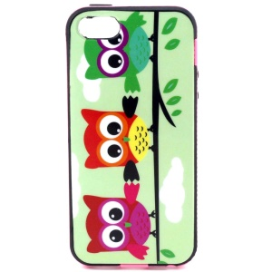 Hybrid PC Frame + TPU Cover for iPhone 5s 5 - Three Cute Owls