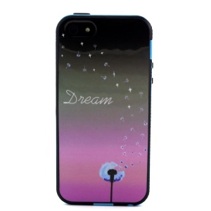 Removable PC + TPU Combo Case for iPhone 5s 5 - Dream Word and Dandelion