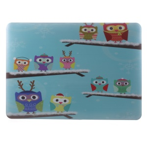 Hard PC Cover for Macbook Air 13.3 inch - Owl Family in the Winter