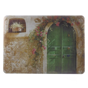 Hard PC Cover for Macbook Air 13.3 inch - Flower Decorated Arc Door