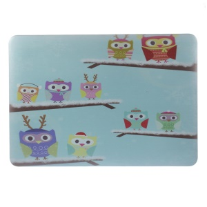 PC Hard Case for Macbook Pro 13.3 inch with Retina Display - Owl Family in the Winter