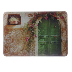 PC Hard Shell for Macbook Pro 13.3 inch with Retina Display - Flower Decorated Arc Door