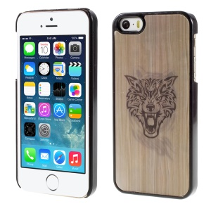 Wolf and Tiger Head 3D Effect Hard Plastic Case for iPhone 5/5s