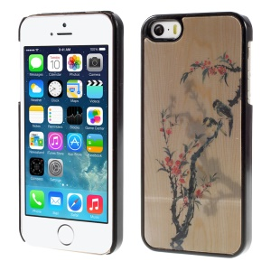 Flowered Tree and Birds 3D Effect Hard Plastic Cover for iPhone 5/5s