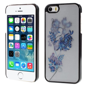 Stylish Flower 3D Effect Hard Back Plastic Case for iPhone 5/5s