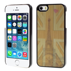 UK Flag and Eiffel Tower 3D Effect Hard Back PC Cover for iPhone 5/5s