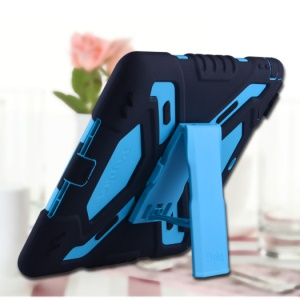 PEPKOO Spider Series for iPad Air Extreme Heavy Duty PC + Silicone Hybrid Case Cover - Black / Blue