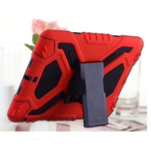 PEPKOO Spider Series for iPad Air Extreme Heavy Duty PC + Silicone Hybrid Cover Case - Red / Black