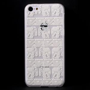 Elephants Geometric Pattern Translucent Hard Back Case for iPhone 5c