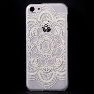 Retro Flowers Translucent Hard Case Shell for iPhone 5c