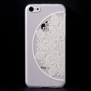 Unique Flowers Translucent Hard Shell Cover for iPhone 5c