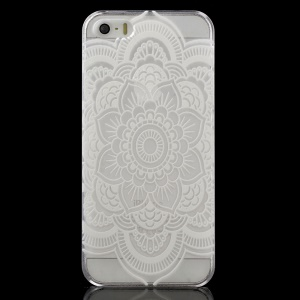 Mandala Flower Clear Hard Shell Cover for iPhone 5 / 5s