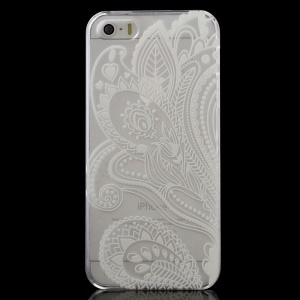 Paisley Pattern Clear Plastic Case for iPhone 5 / 5s