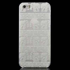 Tribal Elephant Pattern Clear Back Case for iPhone 5 / 5s