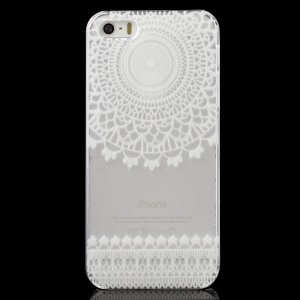 Flower Pattern Clear Back Case for iPhone 5 / 5s