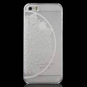 Hidding Flower Pattern Clear Back Case for iPhone 5 / 5s