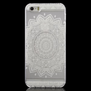 Characteristic Flower Clear Back Case for iPhone 5 / 5s