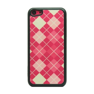 Red Grid Glittery Powder PC Case for iPhone 5c