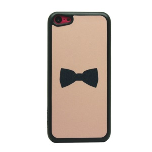 Cool Black Bowknot Flash Powder Hard PC Case for iPhone 5c