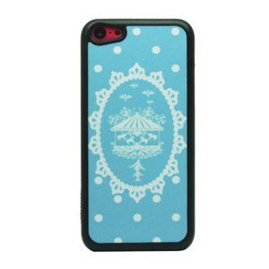 Marry-Go- Round Pattern Glittery Powder Hard Case for iPhone 5c