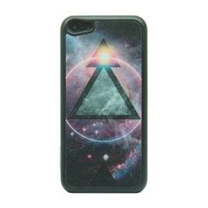 Triangle & Space Glittery Powder PC Case for iPhone 5c