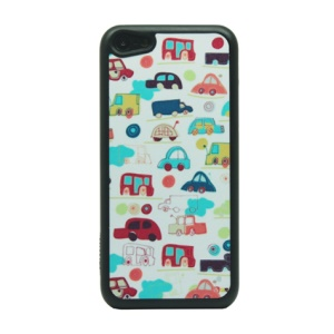Car Cartoon Glittery Powder PC Case for iPhone 5c