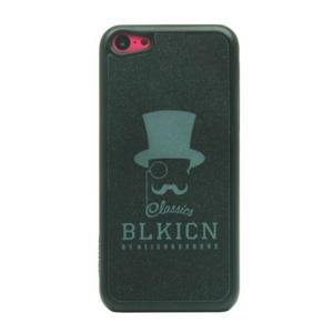 Funny Mustache Glittery Powder PC Case Cover for iPhone 5c
