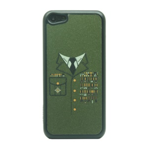Glittery Powder Hard Case for iPhone 5c - Military Officer Suit