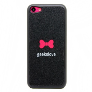 Little Red Bowknot Glittery Powder PC Case for iPhone 5c