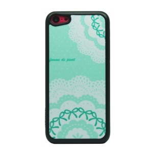 Lace and Bowknot Powder Hard Phone Cover for iPhone 5c
