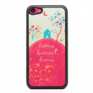 Sweet Home Powder Plastic Cover for iPhone 5c