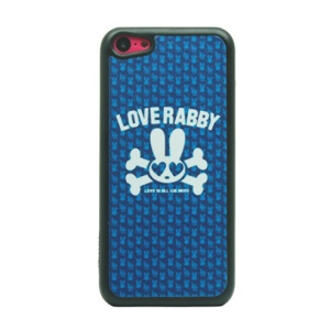 For iPhone 5c Flash Powder Hard Case - Funny Skull and Love Baby
