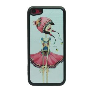 Cool Girl Glittery Powder Hard Phone Case for iPhone 5c