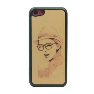 Beautiful Making-face Girl Glittery Powder Hard Phone Case for iPhone 5c