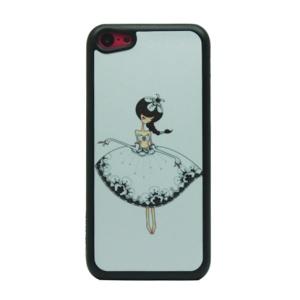 Elegant Girl Glittery Powder Hard Phone Cover for iPhone 5c