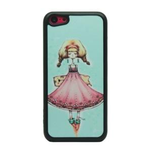 Girl in Skirt Glittery Powder Hard Phone Shell for iPhone 5c