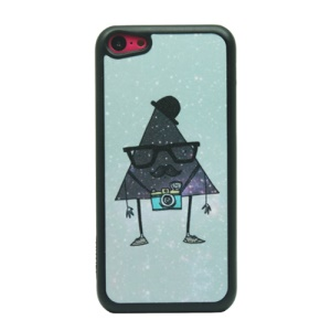 Triangle Gentleman Glittery Powder Hard Phone Case for iPhone 5c