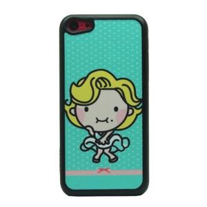 Posing Girl Glittery Powder Hard Phone Case for iPhone 5c