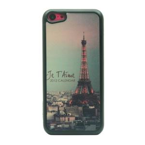 Glitter Powder Hard Plastic Case for iPhone 5c - Eiffel Tower