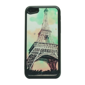 Glitter Powder Hard Cover Case for iPhone 5c - Famous Eiffel Tower