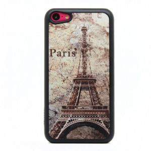 Glitter Powder Hard Shell Case Cover for iPhone 5c - Paris Eiffel Tower