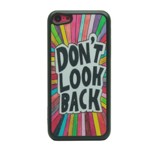 Quote Don't Look Back for iPhone 5c Glittery Powder PC Case