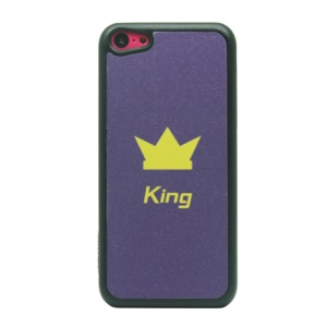 King and Crown for iPhone 5c Glittery Powder Plastic Case