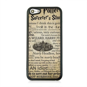 For iPhone 5c Leather Coated Hard Case - Harry Potter and the Sorcerer's Stone Quote