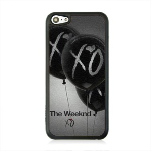 Leather Coated PC Hard Case for iPhone 5c - Balloon and XO