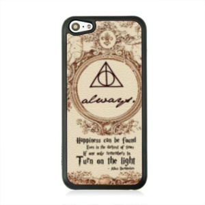 Leather Coated PC Protective Cover for iPhone 5c - Retro Picture