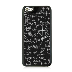 Leather Coated PC Protective Shell for iPhone 5c - Mathematical Formula